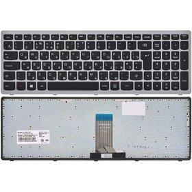 Клавиатура для Lenovo IdeaPad U510 черная с серебристой рамкой