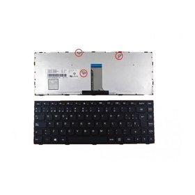 Клавиатура для Lenovo G400 черная с черной рамкой