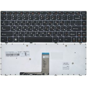25201230 Клавиатура черная с серой рамкой