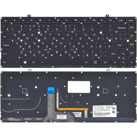 Клавиатура для Lenovo Yoga 2 Pro черная без рамки с подсветкой