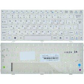 Клавиатура для MSI Wind U160 (MS-N051) белая с белой рамкой