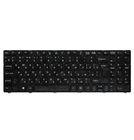 Клавиатура для MSI CX640 (MS-16Y1) черная с черной рамкой