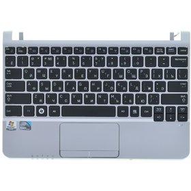 Клавиатура для Samsung NC110 черная (Топкейс серебристый)