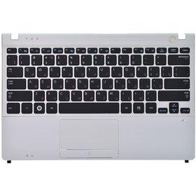 Клавиатура для Samsung NP350U2B черная (Топкейс серебристый)