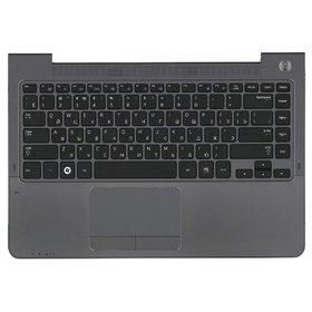 Клавиатура для Samsung NP530U4B черная (Топкейс серый)