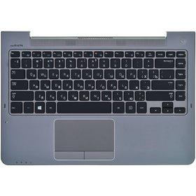 Клавиатура для Samsung NP535U4C черная (Топкейс серый)