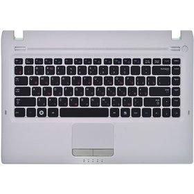 Клавиатура для Samsung Q330 черная (Топкейс серебристый)