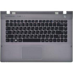 Клавиатура для Samsung QX410 черная (Топкейс серый)