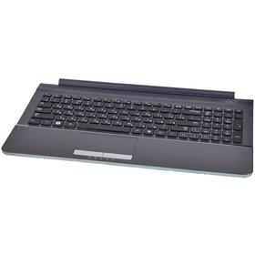 Клавиатура для Samsung RC510 черная (Топкейс серый)