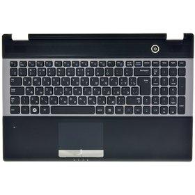 Клавиатура Samsung RC530 черная с серебристой рамкой (Топкейс черный)