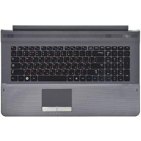Клавиатура для Samsung RC720 черная (Топкейс серый)