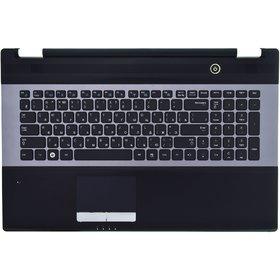 Клавиатура для Samsung RC730 черная с серой рамкой (Топкейс черный)