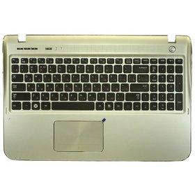 Клавиатура для Samsung SF510 черная (Топкейс серебристый)