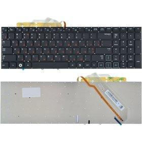 Клавиатура для Samsung RF710 черная без рамки с подсветкой