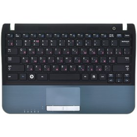 Клавиатура для Samsung NF310 черная (Топкейс черный)