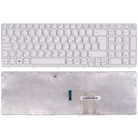 Клавиатура для Sony VAIO SVE151 белая с белой рамкой