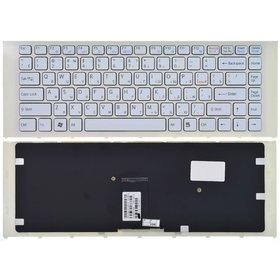Клавиатура белая с белой рамкой Sony VAIO VPCEA2S1E/G