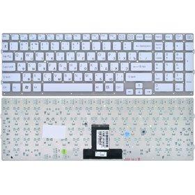 Клавиатура белая без рамки Sony VAIO VPCEB3E1E/WI