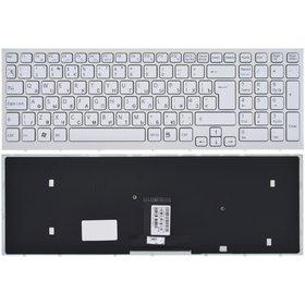 148793271 Клавиатура белая с бело - синей рамкой