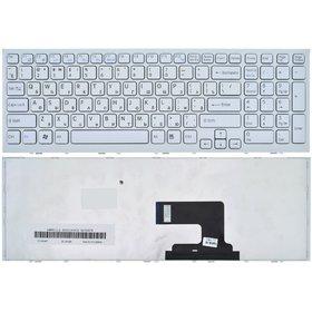Клавиатура для Sony VAIO VPCEH белая с бело - синей рамкой