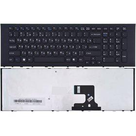 Клавиатура для Sony VAIO VPCEJ черная с черной рамкой