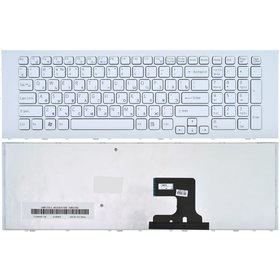 Клавиатура для Sony VAIO VPCEJ белая с белой рамкой