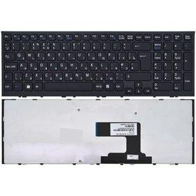 Клавиатура для Sony VAIO VPCEL черная с черной рамкой