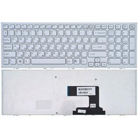 Клавиатура для Sony VAIO VPCEL белая с белой рамкой