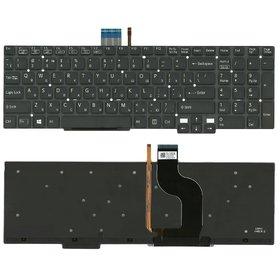 Клавиатура для Sony VAIO SVT15 черная без рамки с подсветкой