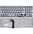 Клавиатура Sony VAIO SVS15 серебристая без рамки