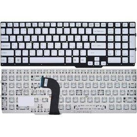 Клавиатура для Sony VAIO SVS15 серебристая без рамки