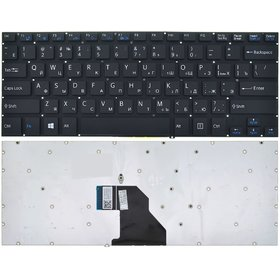 Клавиатура черная без рамки Sony Vaio SVF14N1D4R