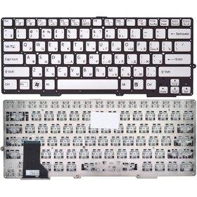 Клавиатура для Sony VAIO SVS131 белая без рамки