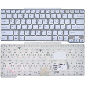 Клавиатура для Sony VAIO VGN-SR белая без рамки