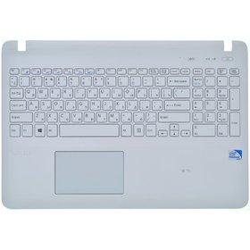 Клавиатура для Sony VAIO SVF15 белая (Топкейс белый)