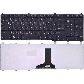 Клавиатура для Toshiba Satellite C650 черная глянцевая