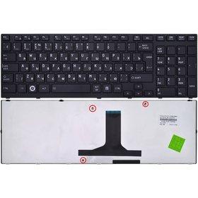 Клавиатура для Toshiba Satellite P750 черная с черной рамкой