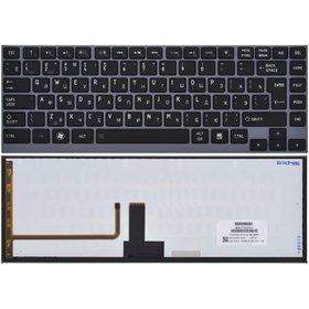 AEBU6700020-RU Клавиатура черная с голубой рамкой с подсветкой