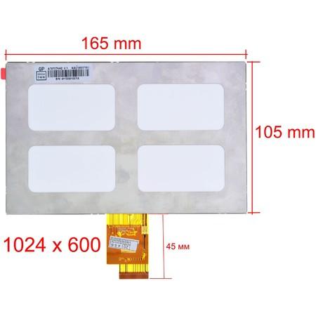 "Дисплей 7.0"" / шлейф 40 pin 1024x600 (105x165mm) 3mm / AT070TNA2 v.1"