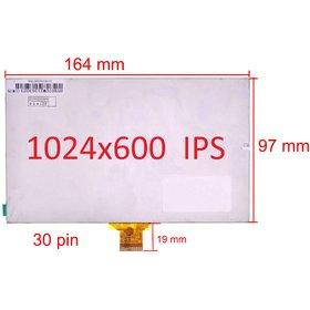 """Дисплей 7.0"""" / шлейф 30 pin 1024x600 (97x164mm) 3mm / C0702630FPCJ"""
