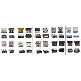 Набор разъемов USB 3.0 и 2.0 (самые популярные 10 видов по 2 штуки )