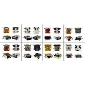 Набор разъемов mini USB (самые популярные 8 видов по 2 штук)