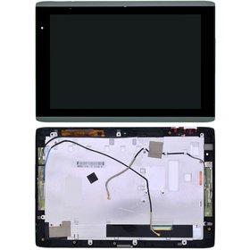 Модуль (дисплей + тачскрин) для Acer Iconia Tab A500 черный с рамкой