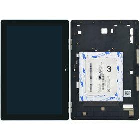 Модуль (дисплей + тачскрин) для ASUS ZenPad 10 (Z300C) P023 черный с рамкой (зеленая плата)