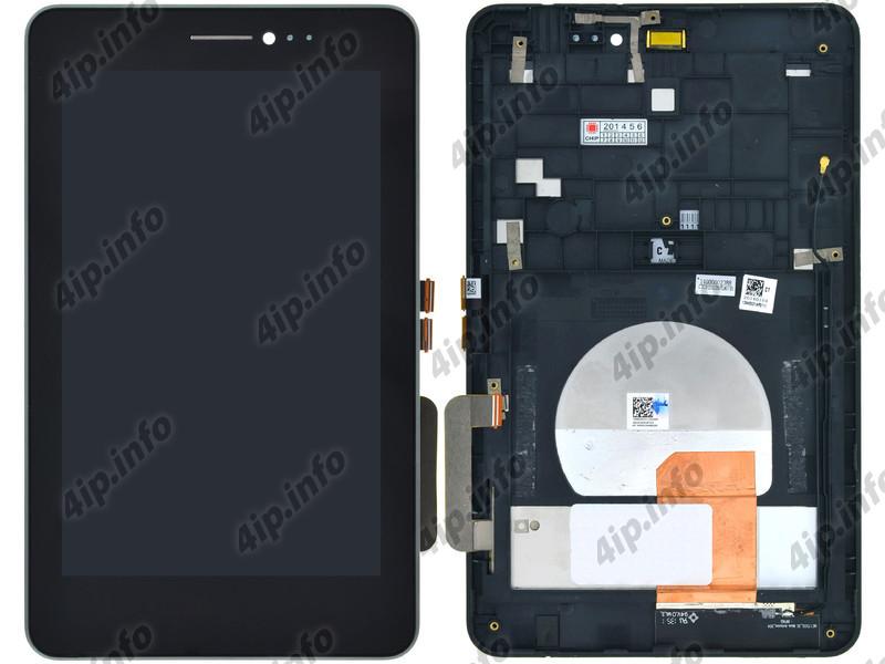 Модуль (дисплей + тачскрин) для ASUS Fonepad 7 Single SIM (ME175CG) K00Z  черный с рамкой