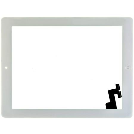 Тачскрин для Apple Ipad 2 белый (Copy) c кнопкой HOME