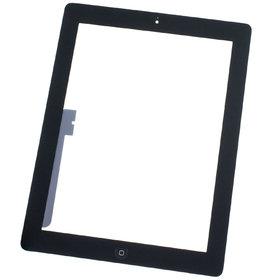 Тачскрин для Apple Ipad 3 черный (копия) c кнопкой HOME