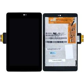 Модуль (дисплей + тачскрин) для ASUS Nexus 7 (ME370TG) черный без рамки 5185L FPC-1 (Черный шлейф)