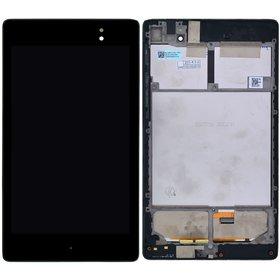 Модуль (дисплей + тачскрин) черный с рамкой под 3G ASUS Google Nexus 7 FHD 2013 (ME571KL) k009 LTE