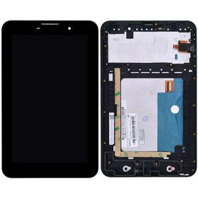 Модуль (дисплей + тачскрин) для Lenovo IdeaTab A3000 черный с рамкой